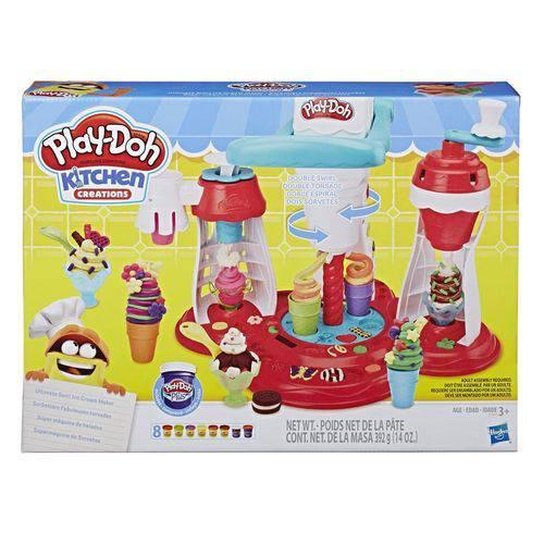 Play Doh Kitchen Supermáquina de Sorvetes E1935 - Hasbro
