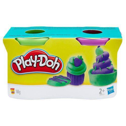 Play Doh Massinha 2 Potes Verde e Roxo B8521 - Hasbro