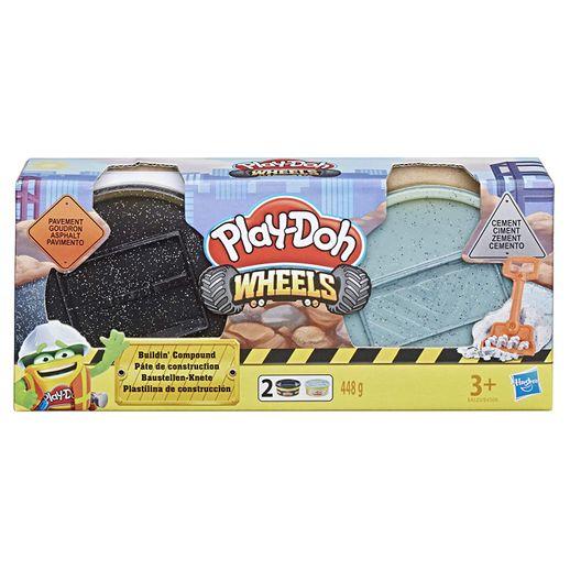 Play Doh Wheels Materiais de Construção Conjunto Cimento e Pavimento - Hasbro