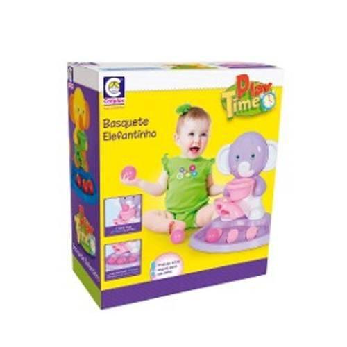 Play Time Basquete Elefante Rosa Cotiplas 2159