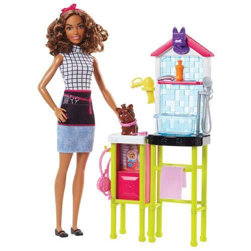 Playset e Boneca Barbie - Profissões - Barbieestilista de Bichinhos - Mattel