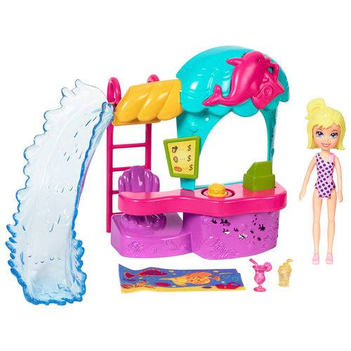 Playset e Mini Boneca - Polly Pocket - Quiosque do Parque Aquático - Mattel