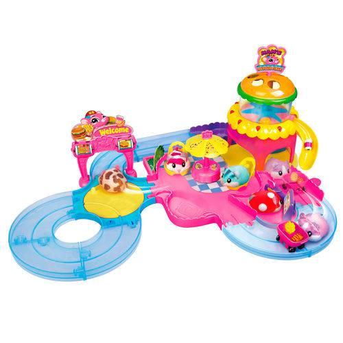 Playset e Mini Figura - Hamsters In a House - Hamburgueria - Candide