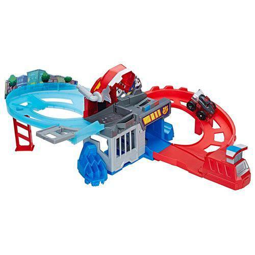 Playset Flip Racers Optmus Prime ao Resgate - Hasbro