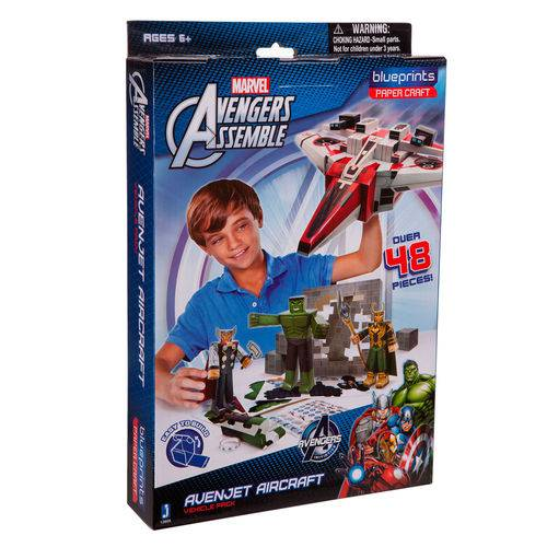 Playset para Montar - Avengers - 48 Peças - Blueprints - Disney