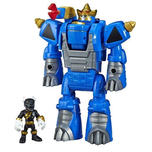 Playskool Power Rangers Black Ranger e Rhino Zord - Hasbro