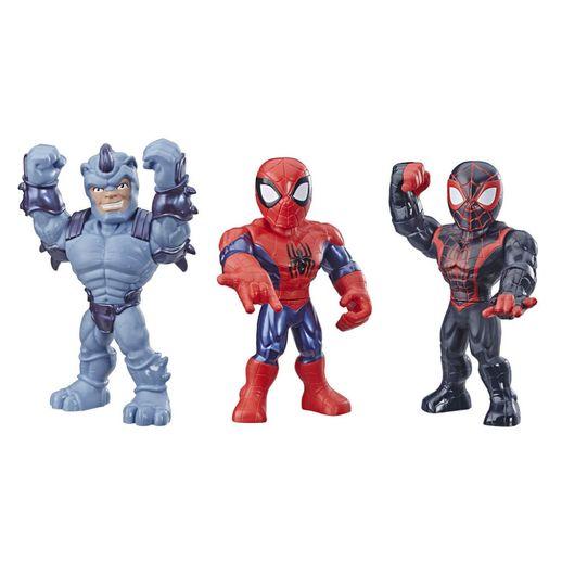 Playskool Super Hero Adventures Mega Mighties 3 Figuras - Hasbro
