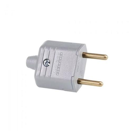 Plug 180G com 2 Pinos de 10A Cinza - Ref: 11934 - Margirius - Margirius