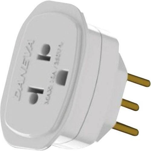 Plug Adaptador Universal 2p+t 10a/250v Granel 1661 Daneva