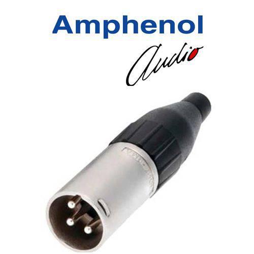 Plug Amphenol Xlr 3p Macho Ac3mm