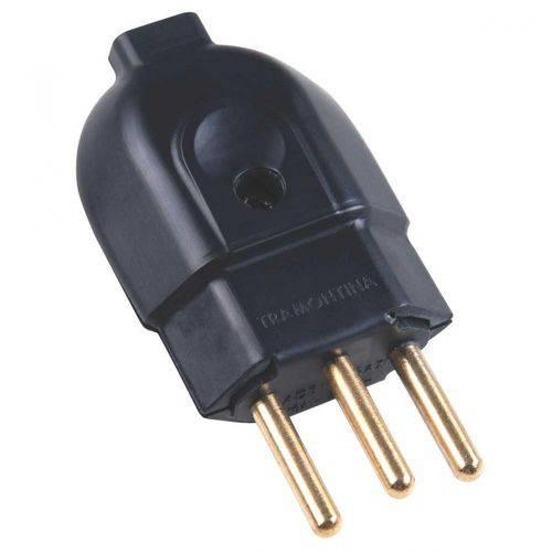 Plug 3p+t 20a Pad 180º Macho Preto Tramontina