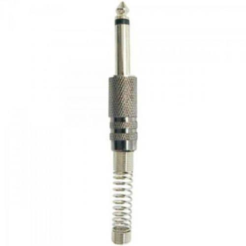 Plug P10 Mono Metal Niquelado com Mola Generico