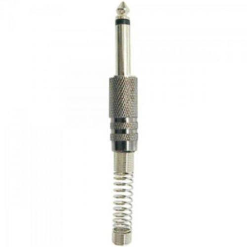 Plug P10 Mono Metal Niquelado com Mola Genérico