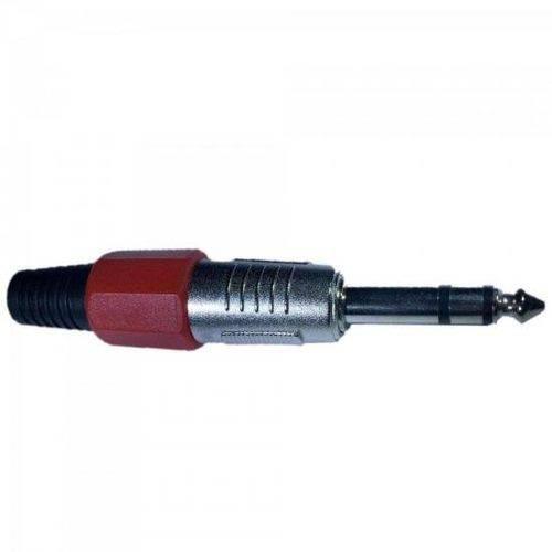 Plug P10 Stereo Plástico Pgpz0014 Vermelho Storm