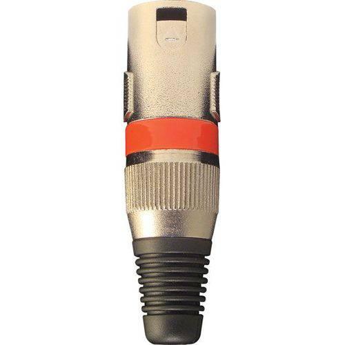 Plug Xlr Loud Cannon Macho Metal Vermelho