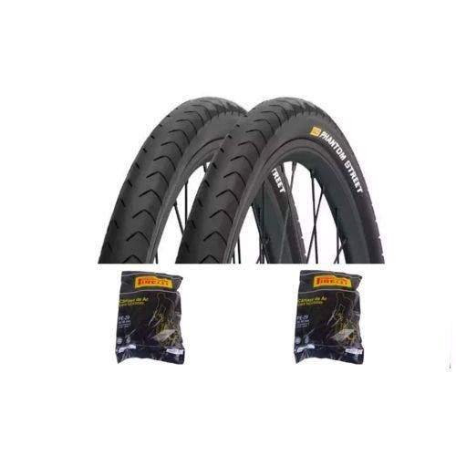 2 Pneus Pirelli Phantom Street 700x38 + 2 Câmaras Pirelli 29 Válvula Americana