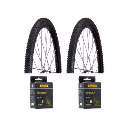2 Pneus Pirelli Scorpion Pro 29x2.20 e 2 Câmaras Pirelli Aro 29 Válvula Presta