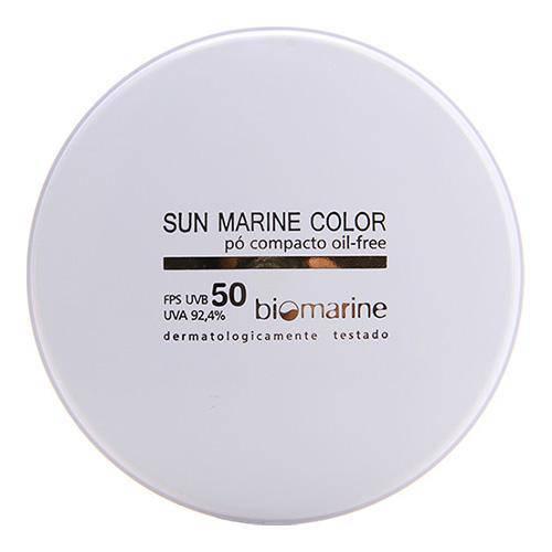 Pó Compacto Biomarine Sun Marine Oil Free FPS 50 Natural 12g