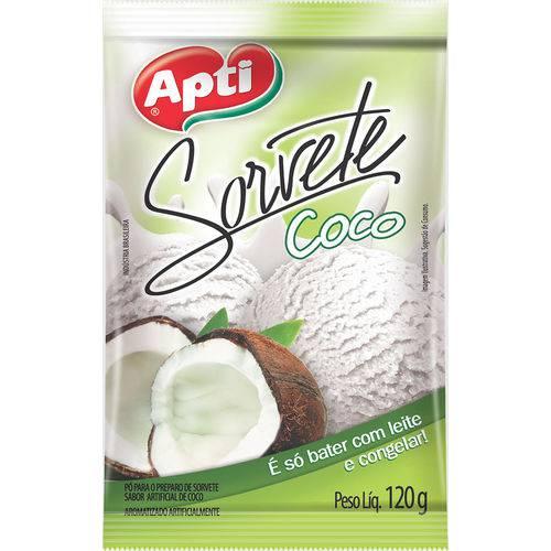 Po P/sorvete Apti Coco Caixa com 12 - 120gr