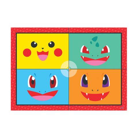 Poket Monsters Painel 4 Folhas - Junco