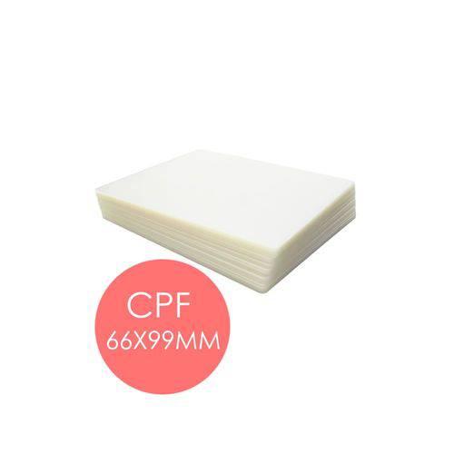 Polaseal Plástico para Plastificação CPF 66x99x0,10mm 100un