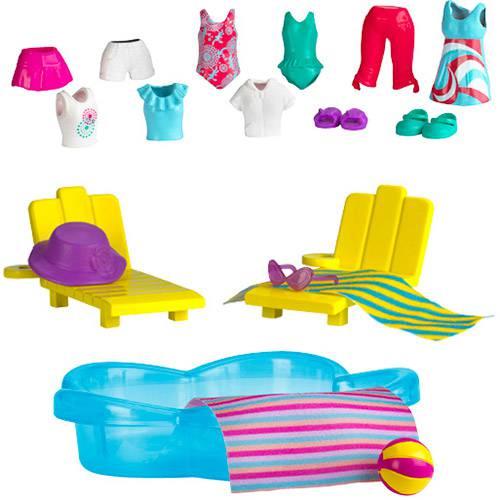 Polly Pocket 2012 - Estações da Polly - Diversão na Piscina - Mattel