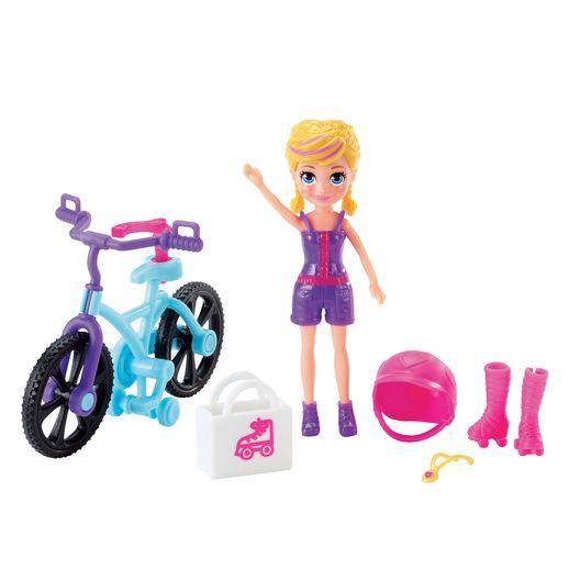 Polly Pocket Aventura em Bicicleta - Mattel
