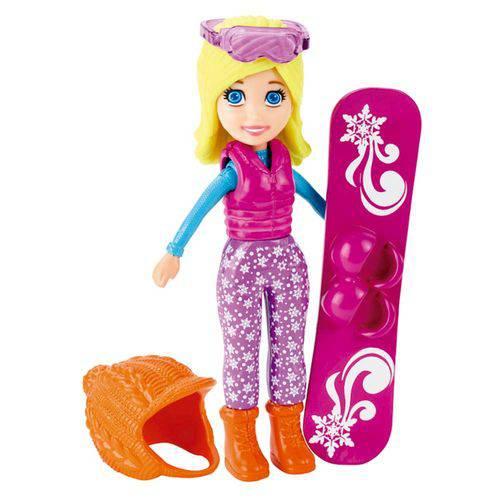 Polly Pocket Conjunto 3 Bonecas Férias Diversão na Neve - Mattel