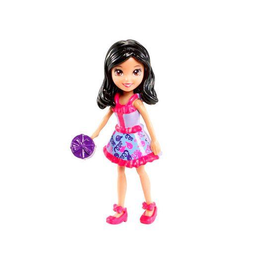 Polly Pocket Crissy Vestido Lilás e Vermelho - Mattel