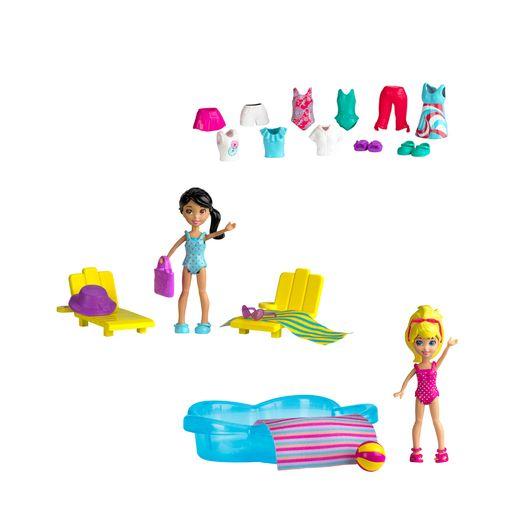 Polly Pocket Estações da Polly Diversão na Piscina - Mattel