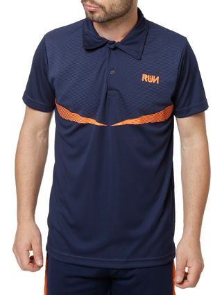 Polo Esportiva Masculina Local Azul