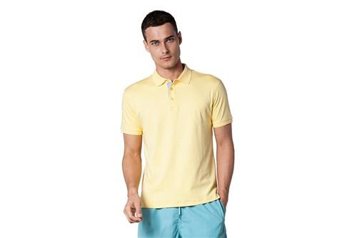 Polo Gola e Punho com Relevo - Amarelo - XXG