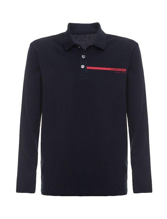 Polo Infantil Calvin Klein Jeans Estampa Logo Horizontal Marinho - 12