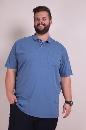 Polo Lisa com Bolso Azul G