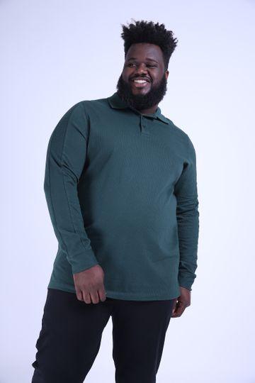 Camisa Polo Malha Plus Size Verde GG