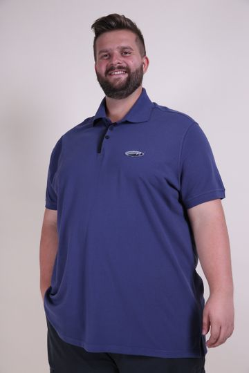Polo Patch Kauê Plus Size Azul P