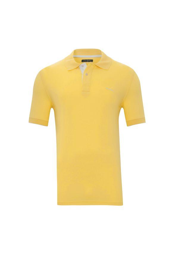 Polo Piquet Amarelo Ouro P