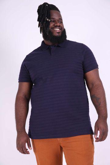 Camisa Polo Plus Size Azul Marinho EX