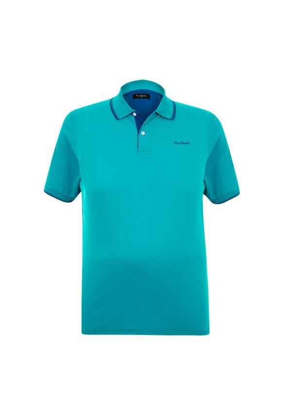 Polo Plus Size Classic New Azul Turquesa 7