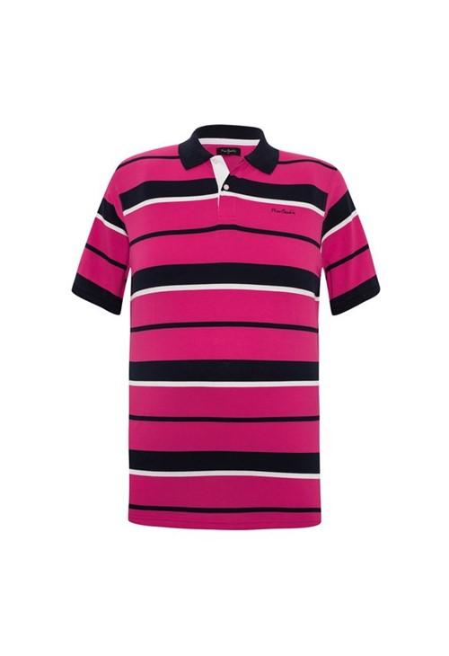 Polo Plus Size Pink Navy 6