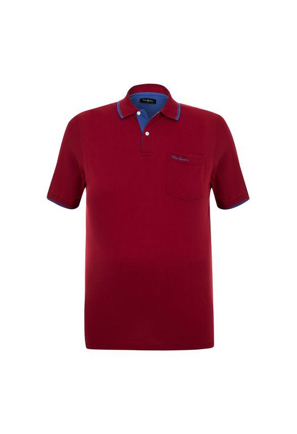 Polo Plus Size Piquet Classic New Vermelha 7