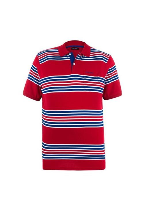 Polo Plus Size Red Stripes 6