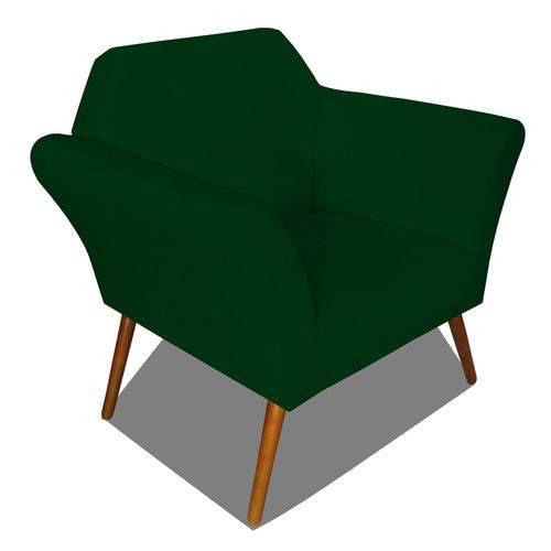 Poltrona Cadeira Anitta Sala Quarto Recepção Escritório Consultório Suede Verde Musgo - AM DECOR