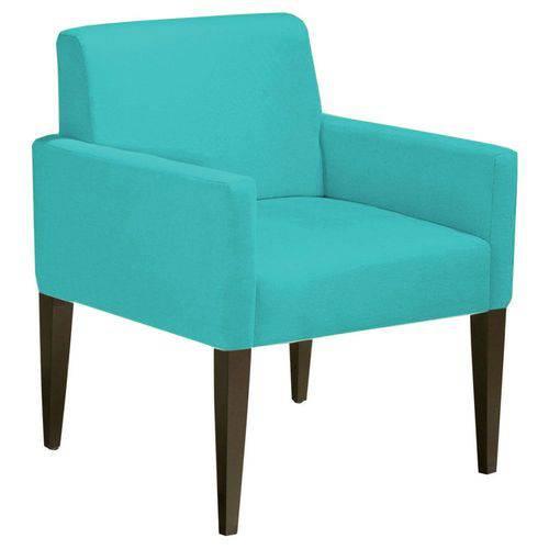 Poltrona Cadeira Decorativa Lais Sala Escritório Suede Tiffany