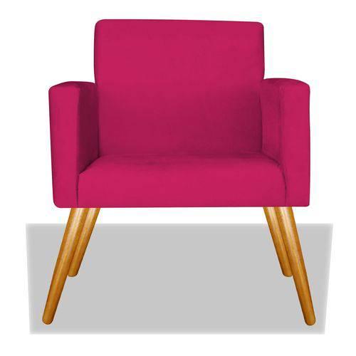 Poltrona Cadeira Decorativa Nina Recepção Sala Escritório Suede Pink – BC DECOR