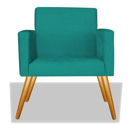 Poltrona Cadeira Decorativa Nina Recepção Sala Escritório Suede Roxo – BC DECOR