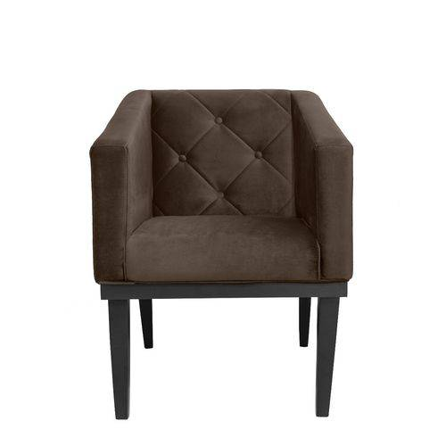 Poltrona Cadeira Decorativa Rafa Suede