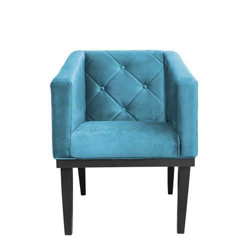 Poltrona Cadeira Decorativa Rafa - Corino