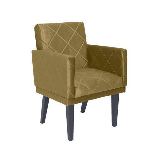 Poltrona Cadeira Leticia Decorativa para Recepção Sala de Estar Quarto Consultório Escritório