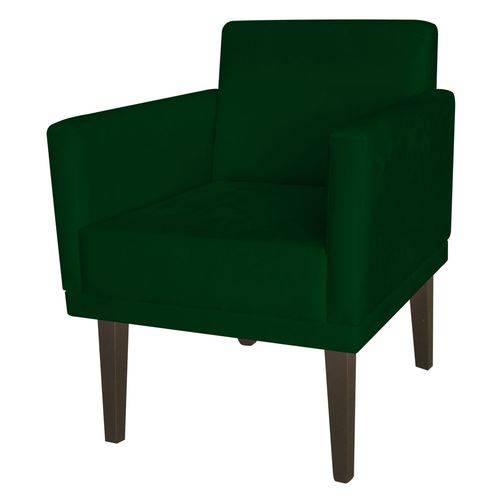 Poltrona Cadeira Mia para Recepção Sala Escritório Quarto Suede Verde Musgo - AM DECOR